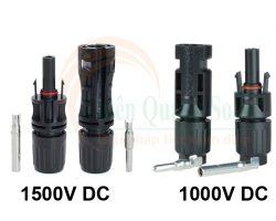 Cách phân biệt đầu nối MC4 1000V DC và Đầu nối MC4 1500V DC