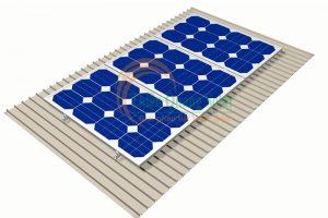 Khung giá đỡ tấm pin năng lượng mặt trời mái tôn Cliplock