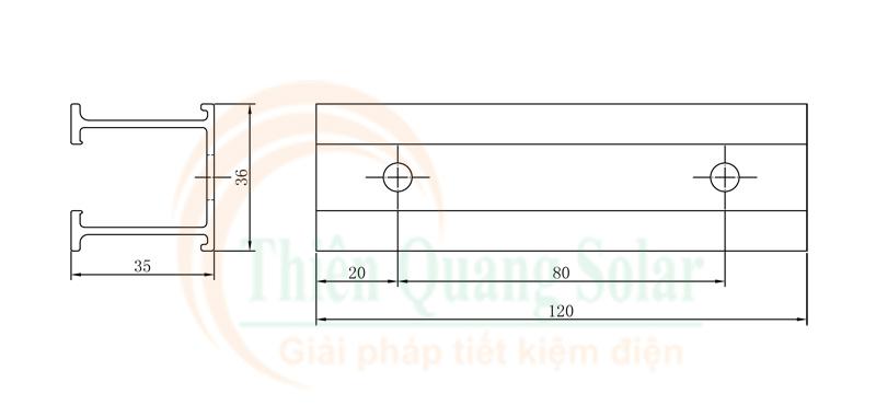 Thanh rail mini