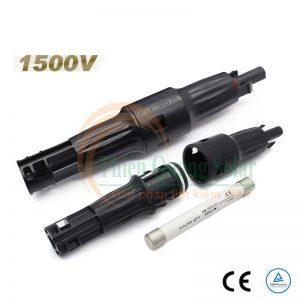 Đầu nối MC4 có cầu chì 1500V DC