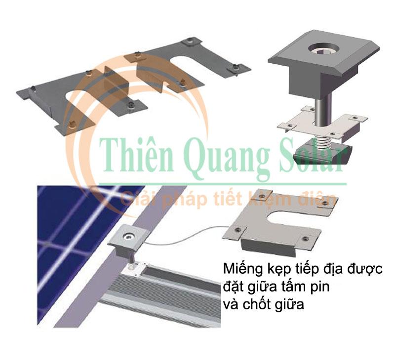 Tiếp địa hệ thống pin mặt trời