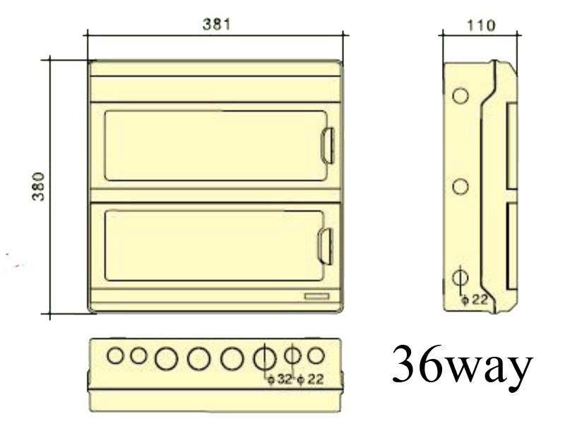 Tủ điện nhựa 36 đường